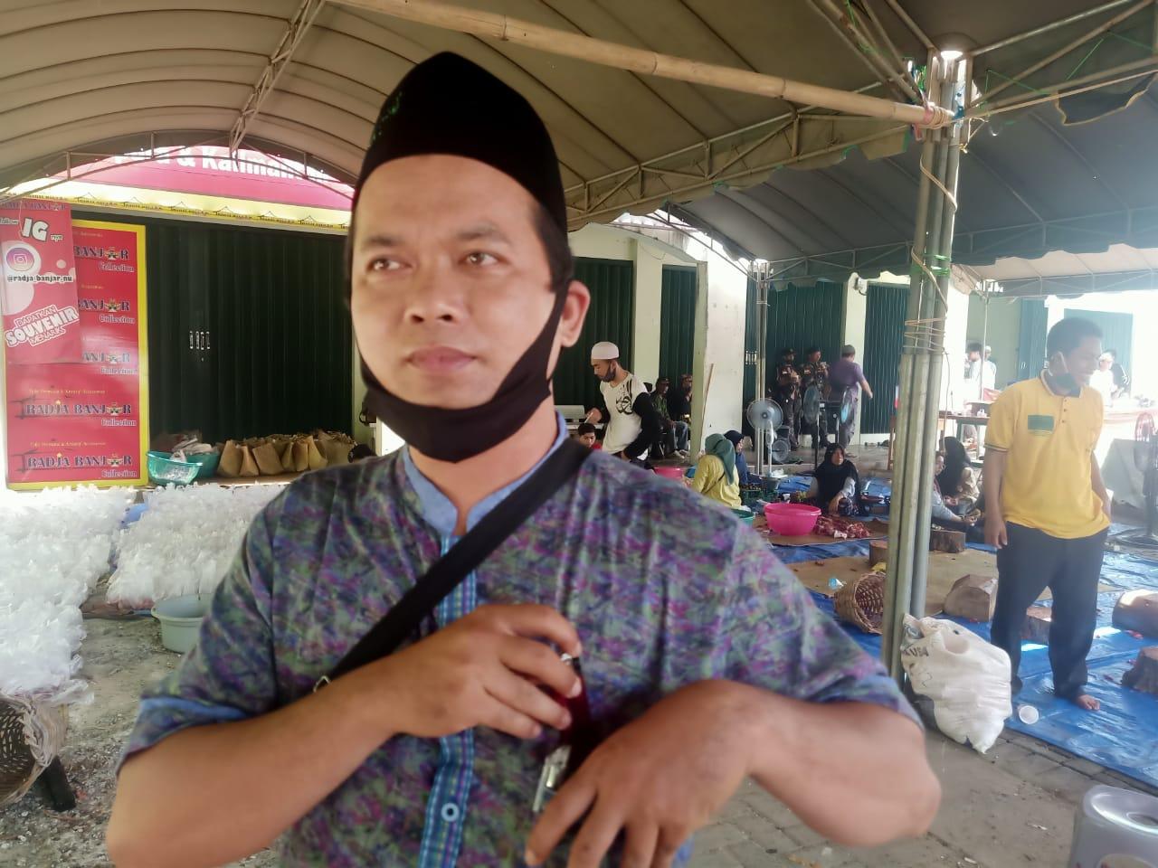 Pembagian Daging Qurban Di PCNU Banjar Terapkan Protokol Kesehatan 4